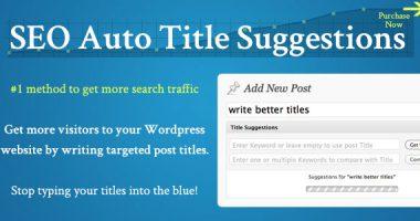SEO Auto Title Suggestions – Premium Plugin