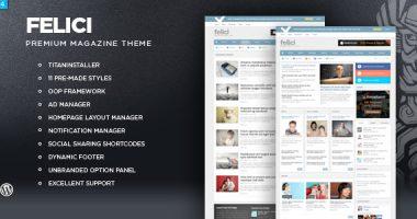 Felici汉化版(1.4)- Magazine WordPress Theme