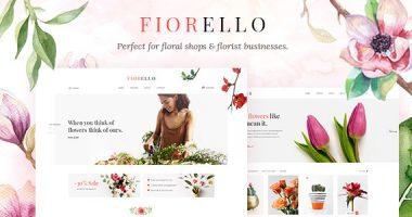 Fiorello – 花店和在线销售类WordPress主题