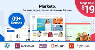 Marketo – 电商和多店铺WordPress主题[1.0.8]